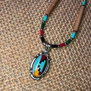 Native American Jewelry set-necklace and earrings